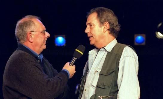 Sietze Dolstra interviewt Jos Brink in 2000. Foto: ANP-Kippa.